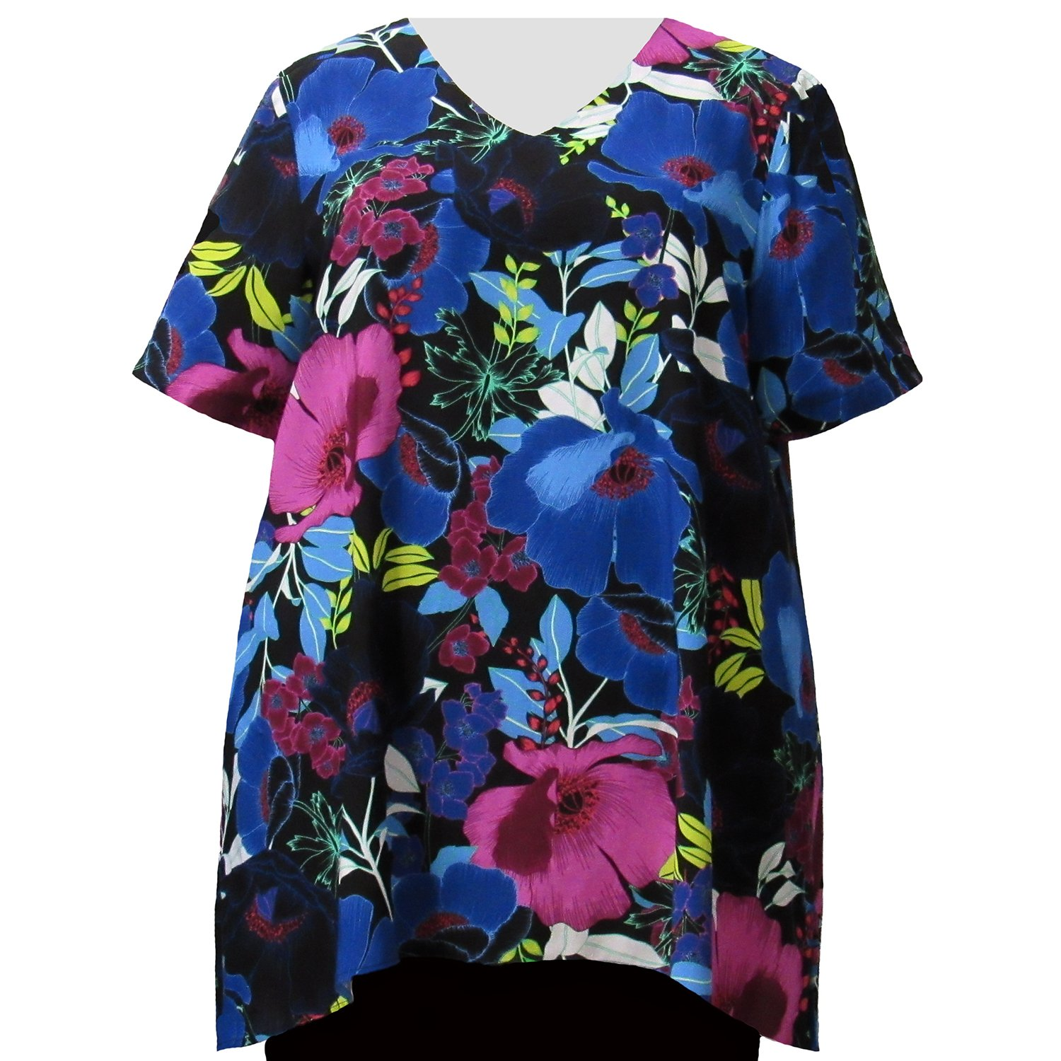 236f1a9c236 A Personal Touch Vibrant Blossoms Women s Plus Size Top at Amazon Women s  Clothing store