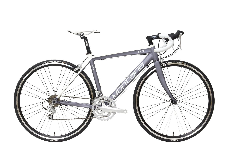 MONTANA(モンタナ) V1-S ハイパフォーマンスロードバイク 【700C/SHIMANO 18-SPEED】 [フレームサイズ-M] MRR-V1SMGW グレー/ホワイト (M) トップチューブ長530mm B00IJLR5SW
