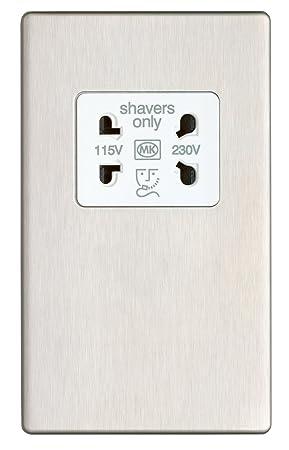 mk aspect k bss w volt input shaver socket amazon co uk mk aspect k24709 bss w 230 volt input shaver socket