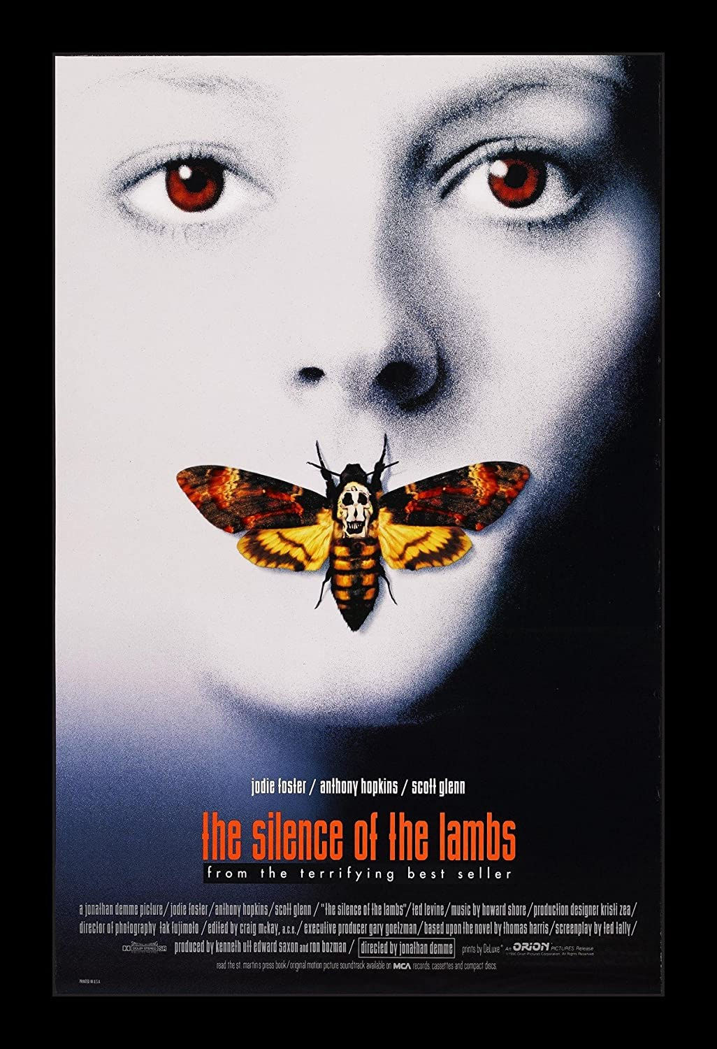 Wallspace The Silence of The Lambs - 11x17 Framed Movie Poster