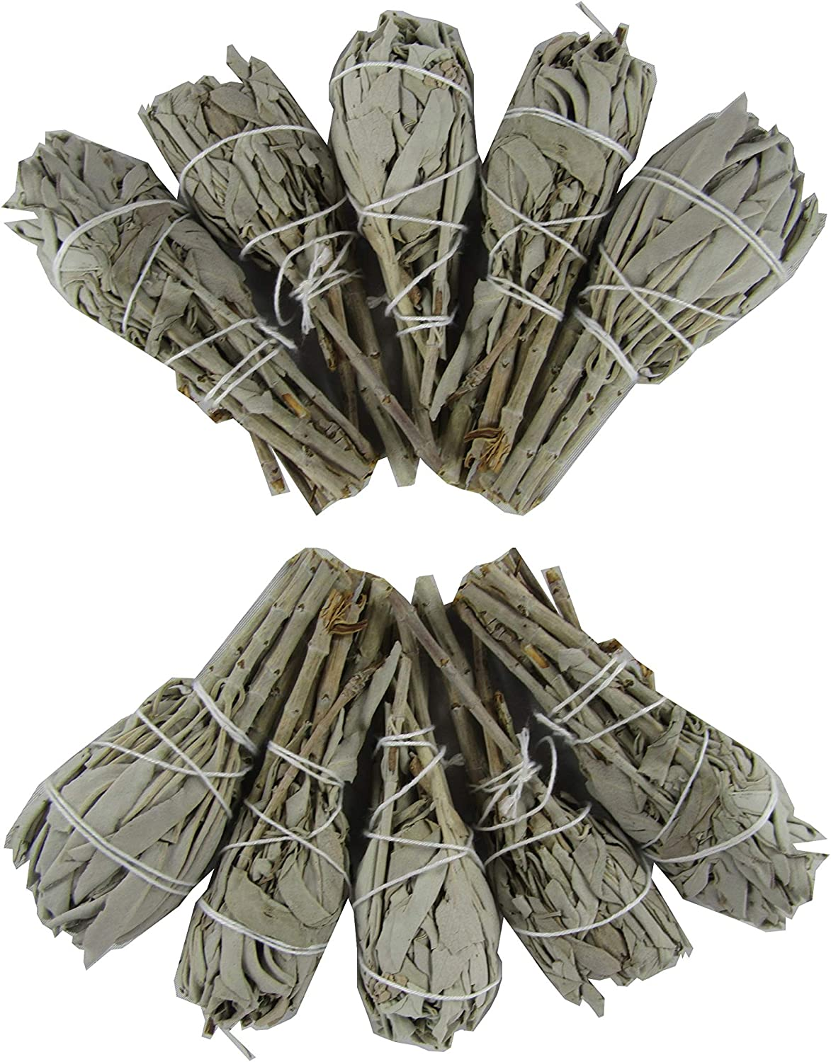 4-Inch Smudge Sticks for Cleansing Rituals CircuitOffice California White Sage Wands Healing Pack of 3 Meditation and Wicca Metaphysical Purifying