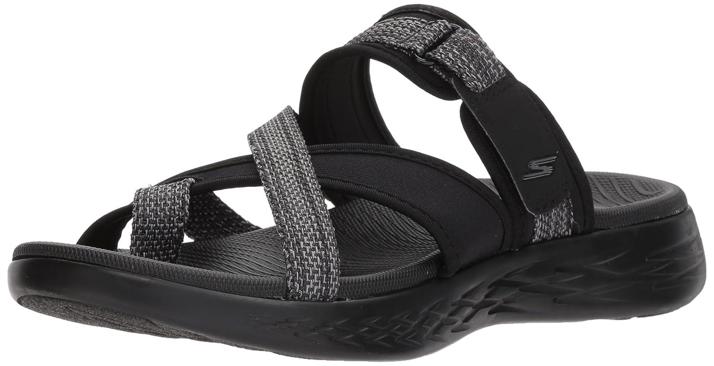 Skechers Women's on-The-Go 600-Glow Sport Sandal B072T4GW3P 11 B(M) US|Black/Gray