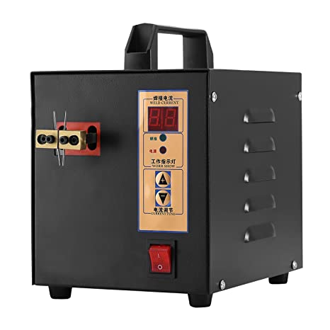 Happybuy Soldadura Spot Welder Machine2.4KW 220V Equipo de Soldadura Batería para Portátil Máquina de
