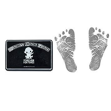 huella de beb/é. almohadilla de tinta t/áctil limpia huella y huella de beb/é Negro juego de impresi/ón de pie o mano para beb/é Juego de impresi/ón para beb/é de 2 piezas