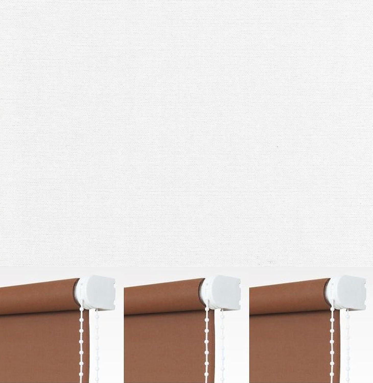 Verdunkelungsrollo Kettenzugrollo Seitenzugrollo Fenster Thermo Rollo Weiß Hitzeschutz Breite 60 bis 240 cm Länge 180 cm Sonnenschutz Sichtschutz Blendschutz Stoff Tür Vorhang blickdicht verdunkelnd abdunkelnd (232 x 180 cm - Kette rechts)
