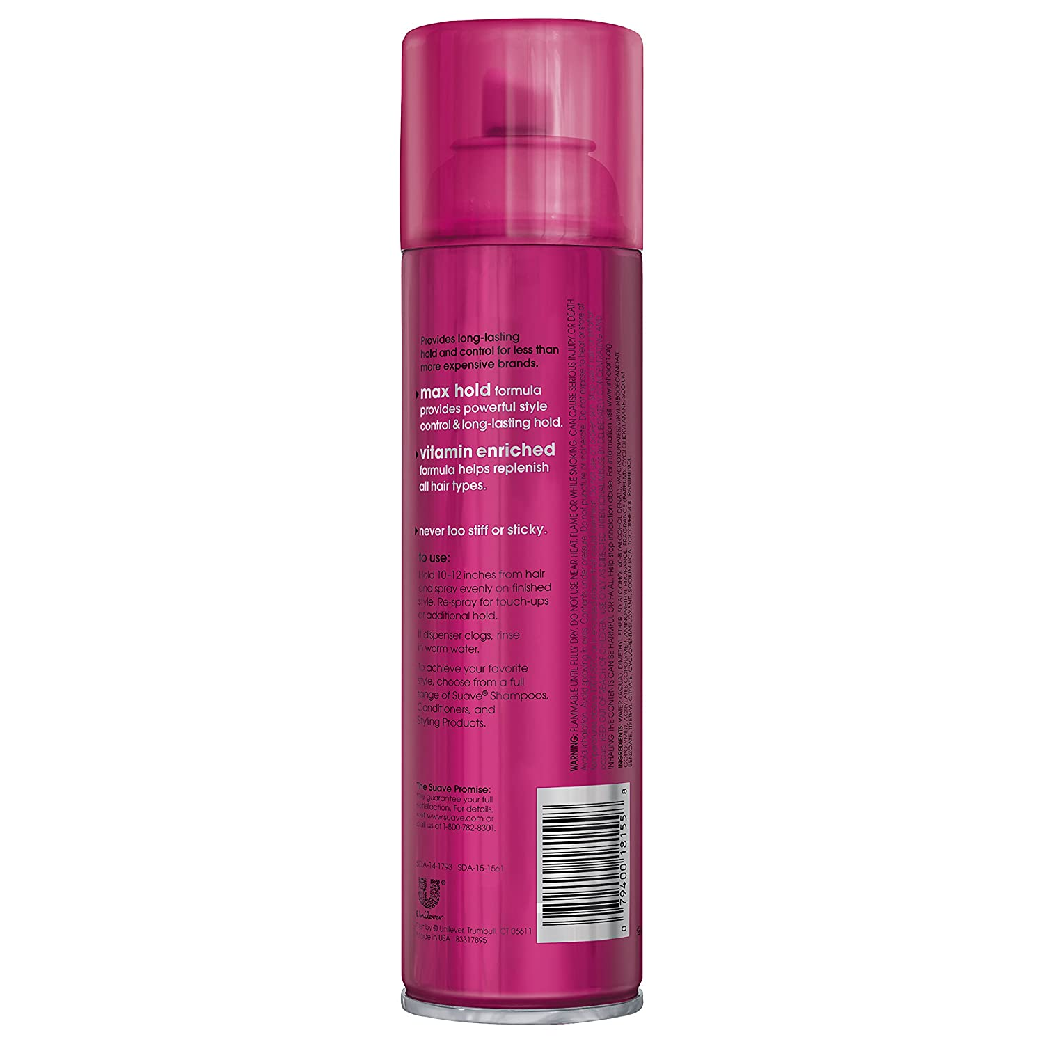 Suave Berry Extreme Hold Unscented Hair Spray, , 11 oz