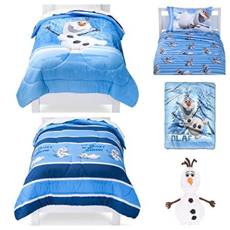 Disney Frozen Olaf 6 Piece Twin Bed In A Bag Bedding Set