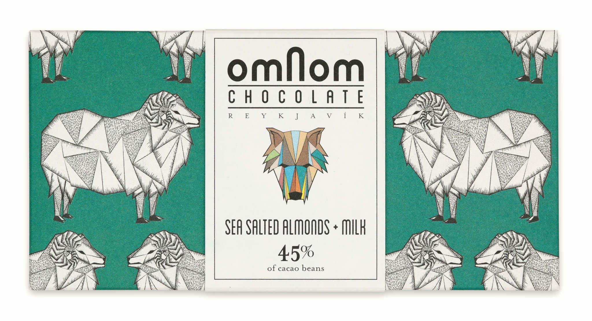 Omnom Chocolate: Sea Salted Almonds + Milk