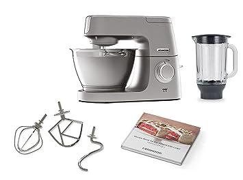 Kenwood Chef Elite KVC5320S Robot de cocina, accesorios de acero inoxidable, indicador de velocidades