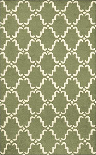 SUPERIOR 5' x 8' Sage/Ivory Moroccan Lattice Area Rug