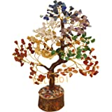 YATHABI Seven Chakra Golden Wire Handmade Gemstone Tree Feng Shui Bonsai for Attracting Positive Energies Chakra…