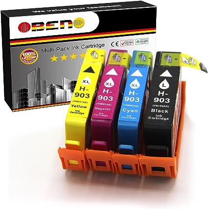 OBENO - 1Set - 903LBK 903XL CMY 4Pack cartuchos de tinta ...