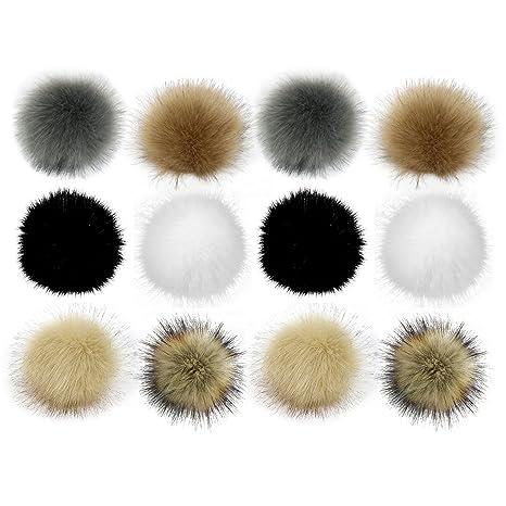 12pcs 10cm Fluffy Faux Fox Fur Pompom Ball Con Pulsante Per Portachiavi  Ciondolo Portachiavi Scarpe Borsa ae5b2e1066a8