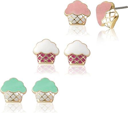 Sam K Cupcake Earring Set// 3 Pack