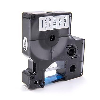 5000 2000 PC2 43614. vhbw Cartucce a Nastro 6mm per Dymo LabelMaker PC 5500 come Dymo D1