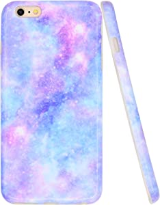 A-Focus Case for iPhone 6s Plus Case Blue, iPhone 6 Plus Case for Girls, Purple Violet Blue Galaxy Smooth IMD Design Slim Flexible Protective TPU Case for iPhone 6 Plus 6s Plus 5.5 inch Glossy Blue 4
