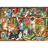 Puss in Books Jigsaw Puzzle (1000-Piece)
