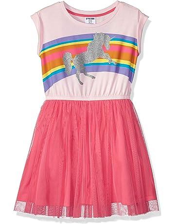 1cc2b81f3fe1 Amazon Brand - Spotted Zebra Girls' Toddler & Kid Knit Short-Sleeve Tutu  Dress