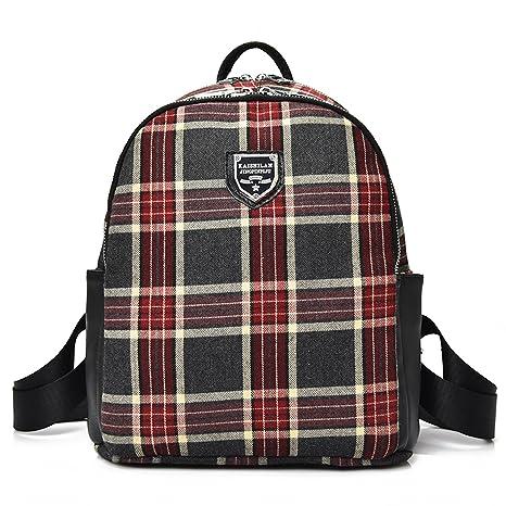 47ccdf0827 Outreo Zaino Ragazza Scuola Borsa Donna Borsello Vintage Bag Laptop  Backpack per Studenti Università Sacchetto Casual