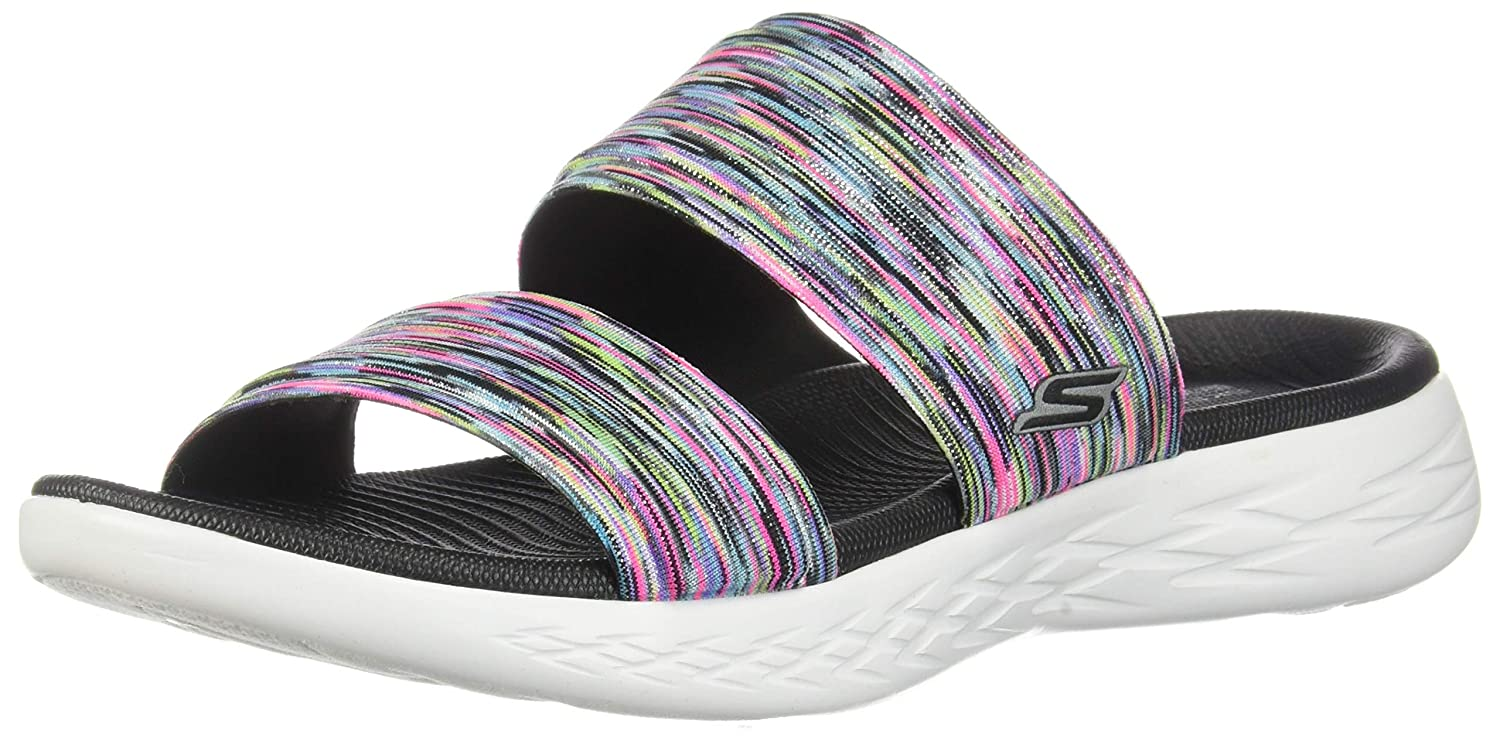 e8a3f2b51e0d Skechers Women s On-The-go 600-Bedazzling Slide Sandal  Amazon.co.uk  Shoes    Bags