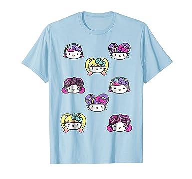 8546582ad Amazon.com: Hello Kitty Kawaii Multi Hair Do Tee Shirt: Clothing