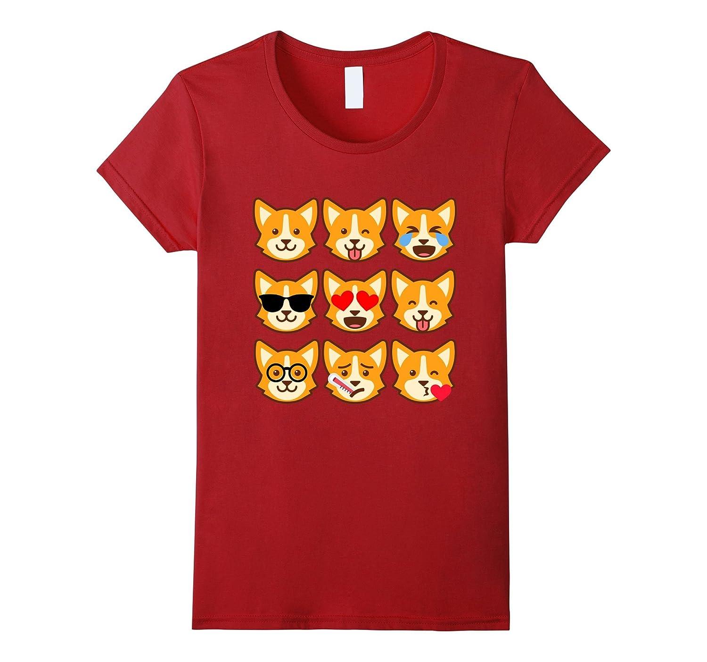 Corgi Emoji T-Shirt Funny Welsh Emoticon Shirt