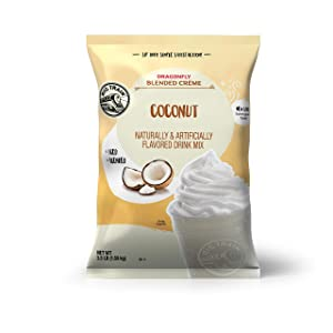 Big Train Dragonfly Blended Crème Frappe Mix, Coconut, 3.5 Pound (Packaging May Vary)