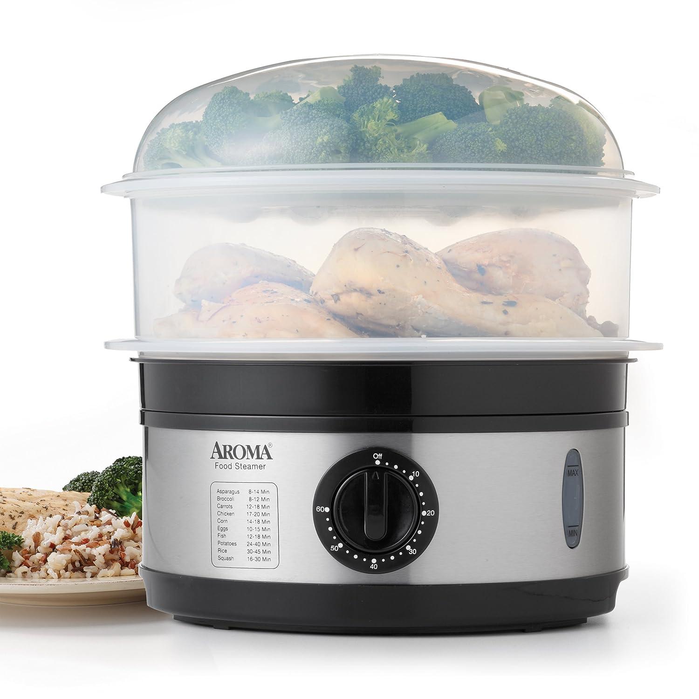 Uncategorized Kitchen Steamer Appliance amazon com aroma housewares 5 quart food steamer stainless steel kitchen dining