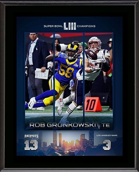 cf1671867 Rob Gronkowski New England Patriots 10.5   x 13   Super Bowl LIII Champions