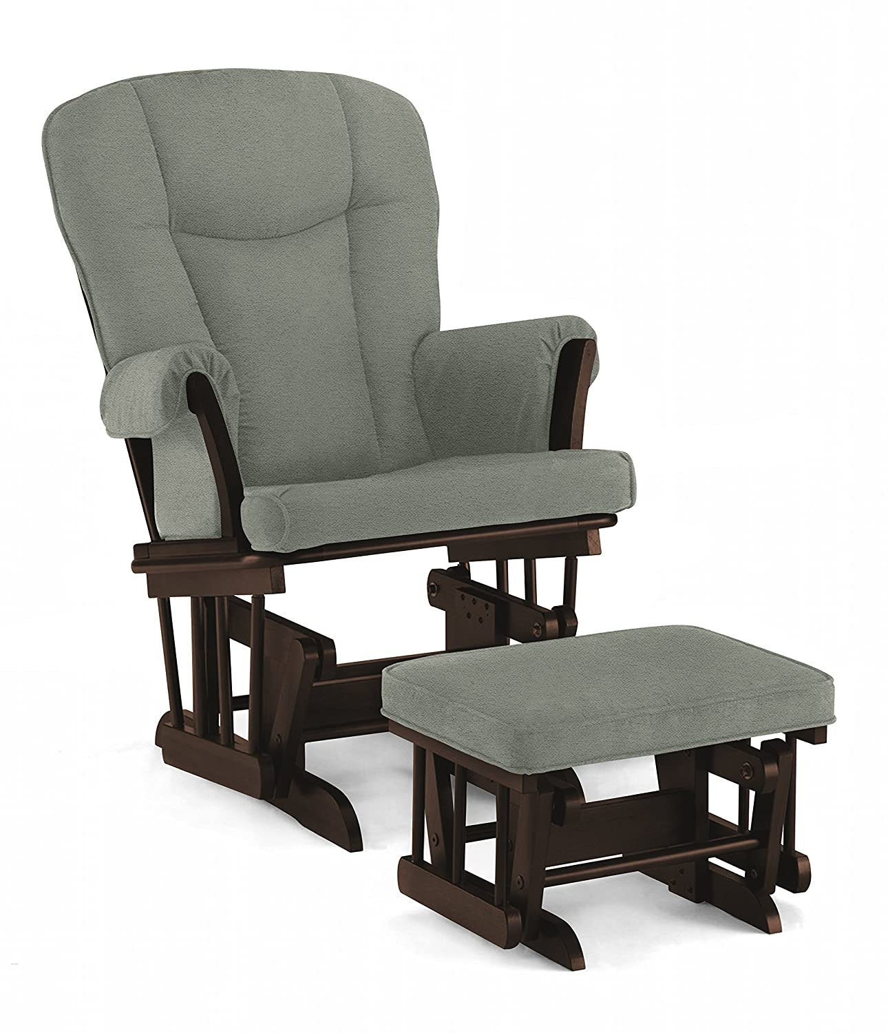 Stupendous Lennox Stanton Transitional Style Glider Chair And Ottoman Combo Espresso With Grey Short Links Chair Design For Home Short Linksinfo