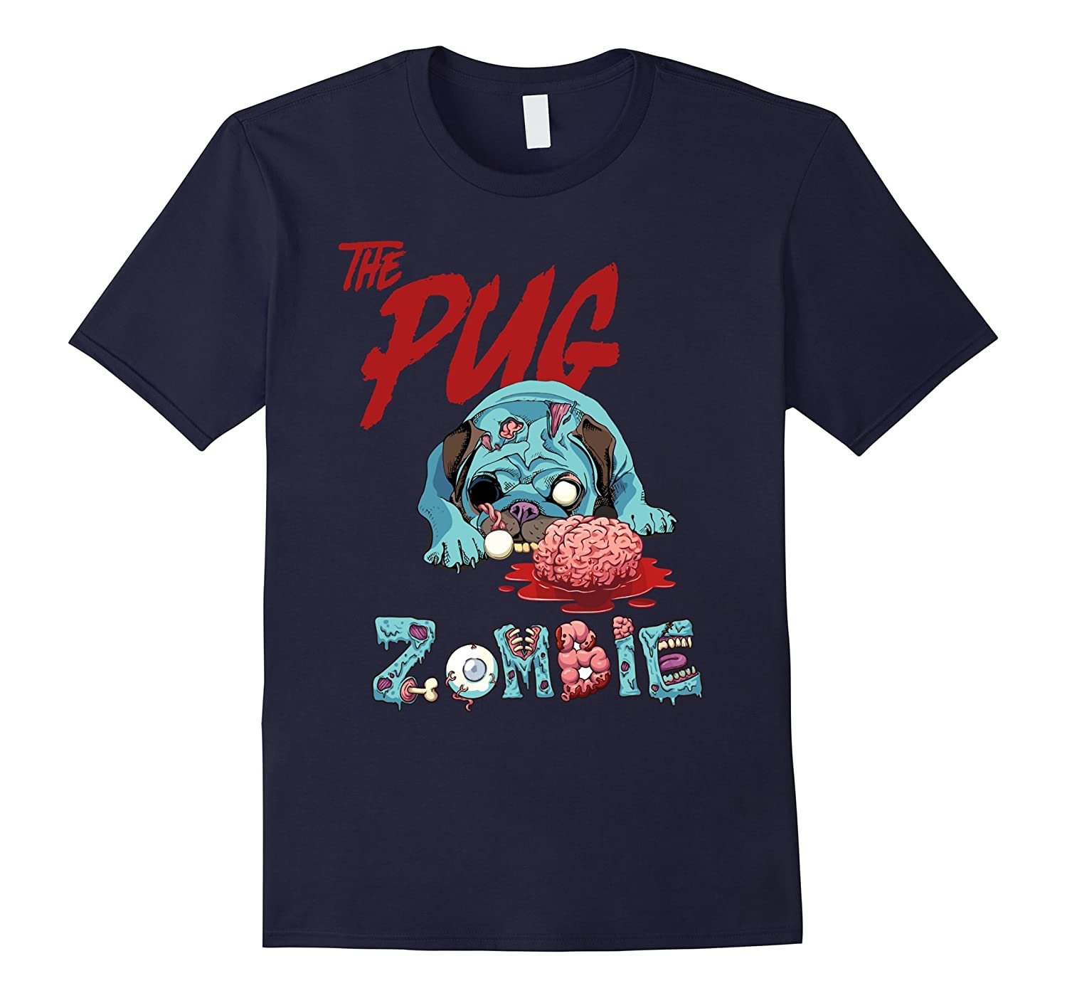 Pug halloween shirt Pug zombie-TH