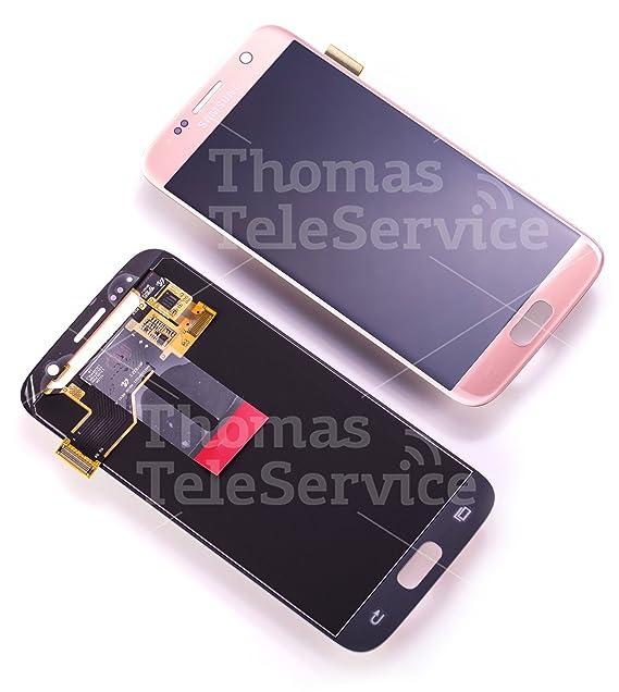 Original Samsung Galaxy S7 SM G930F LCD AMOLED Display Touchscreen Digitizer Rosa Pink Gold Rosegold Service Ersatzteil OCTA