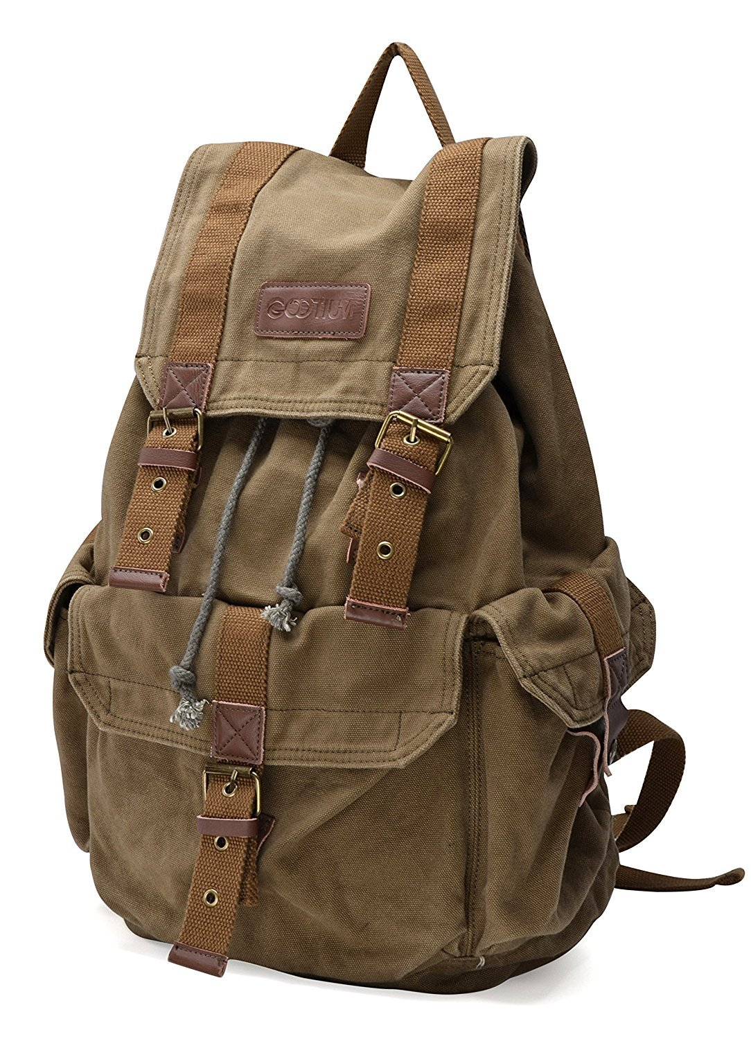 0a4f071bf Gootium 21101 Specially High Density Thick Canvas Backpack Rucksack:  Amazon.in: Sports, Fitness & Outdoors