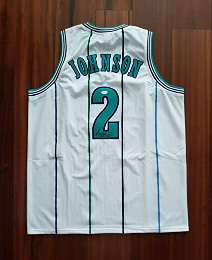 8c801b43f Image Unavailable. Image not available for. Color  Larry Johnson (NBA) Signed  Jersey - Charlotte Hornets - JSA Certified - Autographed NBA