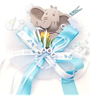 Baby Shower Boy//Girl Jungle Safari Elephant Guest Corsage
