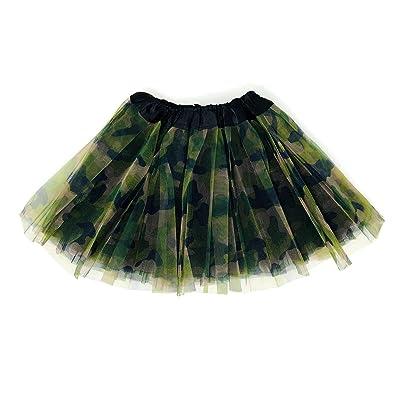 Rush Dance Colorful Ballerina Girls Dress-Up Princess Costume Recital Tutu (Infant, Camoflauge): Clothing