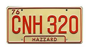Celebrity Machines Dukes of Hazzard | Georgia CNH 320 | Metal Stamped License Plate