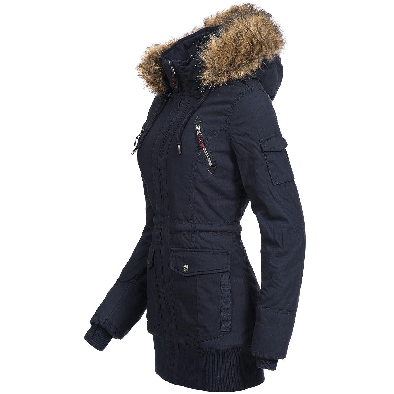 44276a Sublevel Damen Winterjacke Mantel Warm Parka Jacke j54R3qAL