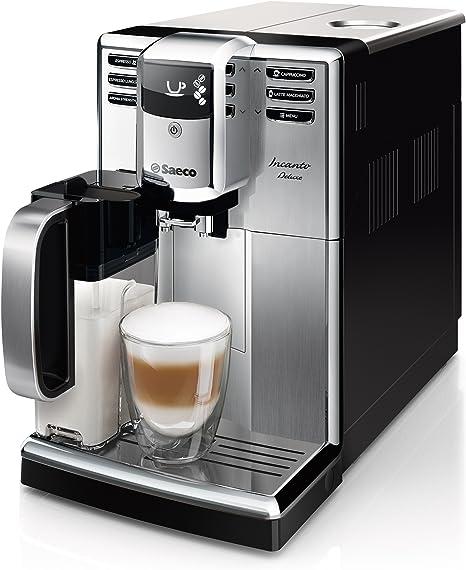 Saeco Incanto HD8921/01 - Cafetera (Independiente, Máquina espresso, 1,8 L, Molinillo integrado, 1850 W, Negro, Acero inoxidable): Amazon.es: Hogar