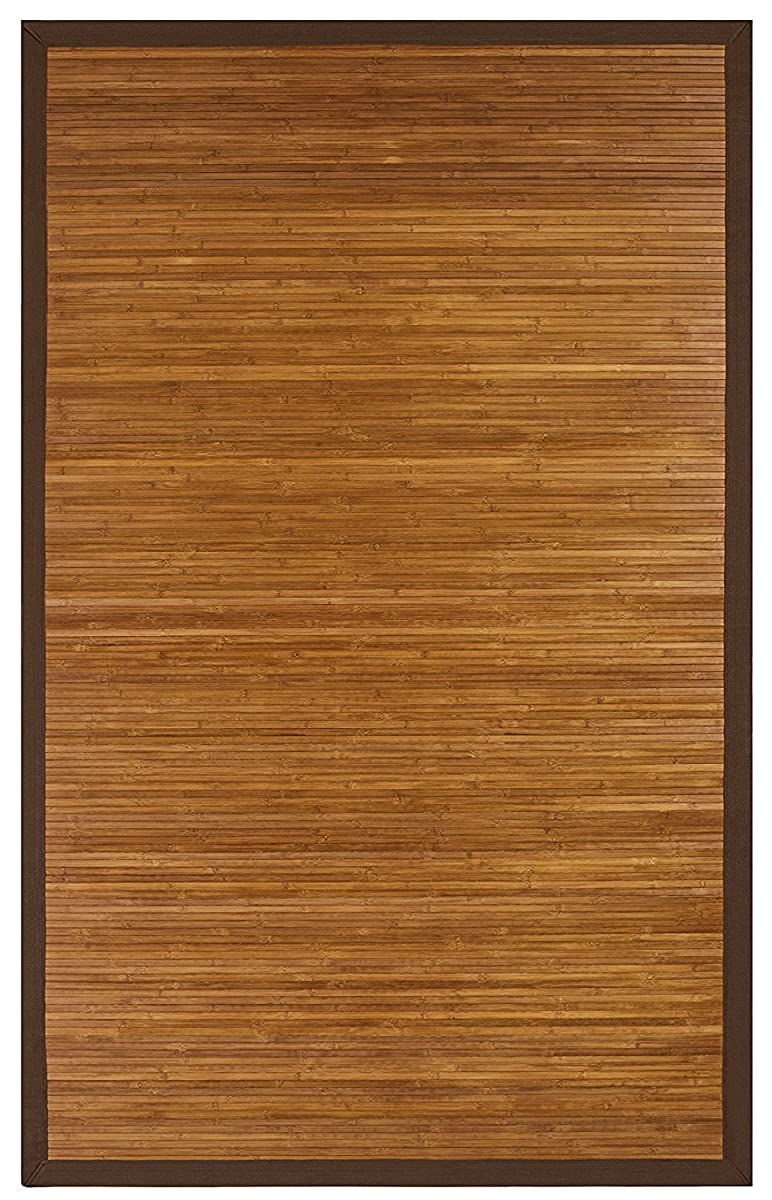 Anji Mountain 4-Foot-by-6-Foot Natural Fiber Rug, Contemporary Chocolate