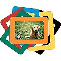 SenYiHo 6 Colorful Magnetic Photo Frames Hold 4x6 Inches Pictures, Magnetic Picture Frames for Refrigerator, Locker…