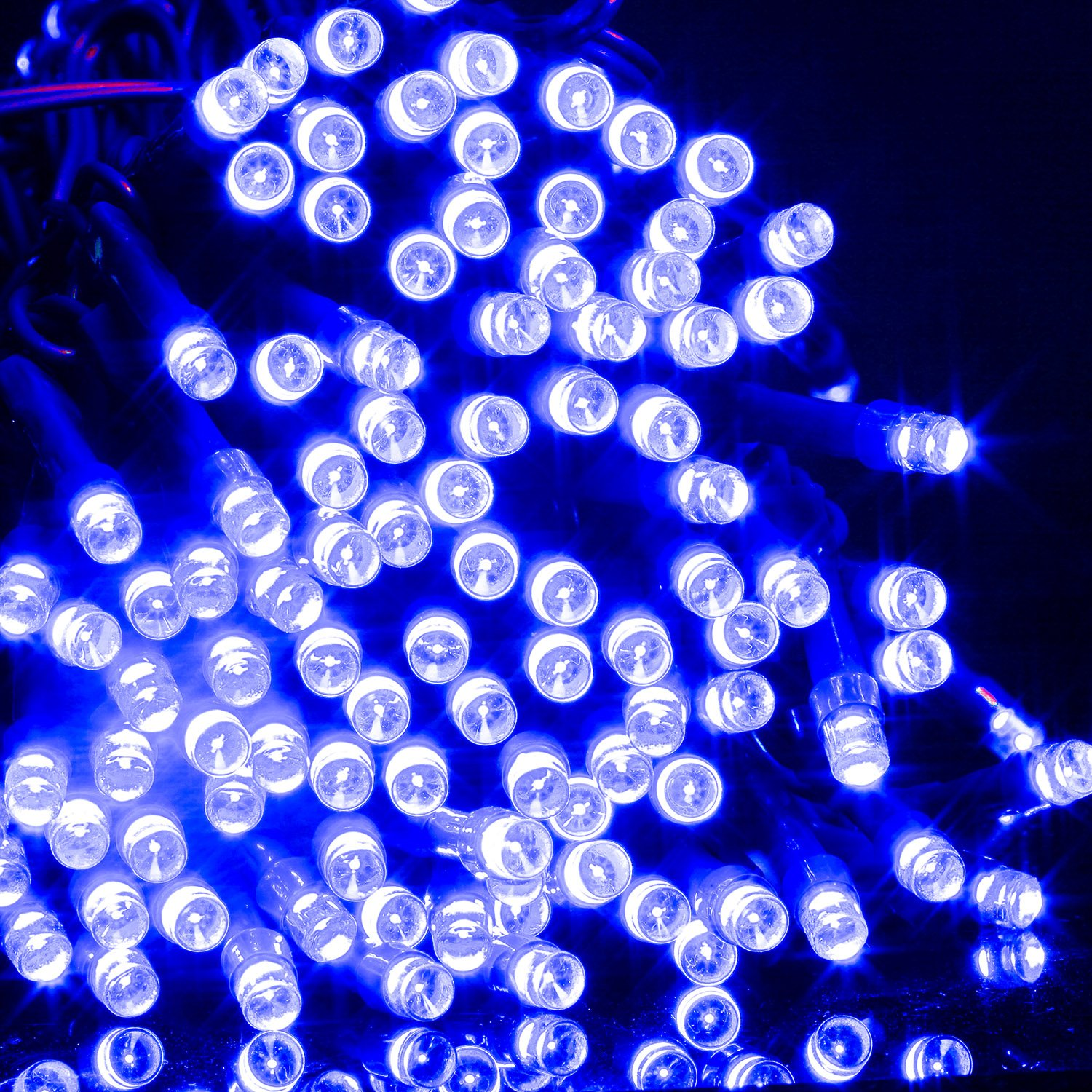 BlueFire 100 LED Fairy Decorative Garden String Lights 39ft DC Power String Christmas Party Lights Indoor Outdoor String Lights for Patio,Wedding,Party (Blue)