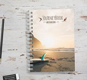 Abschiedsgeschenk Auslandsjahr Freund reisetagebuch australien zum selberschreiben als abschiedsgeschenk