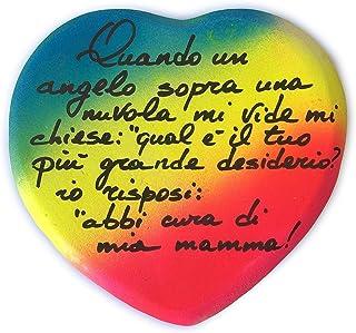 Idea Regalo per La Festa della Mamma 12/5/19 - Quando un'angelo sopra una nuvola. - Regala il tuo cuore alla tua Mamma, Personalizzabile