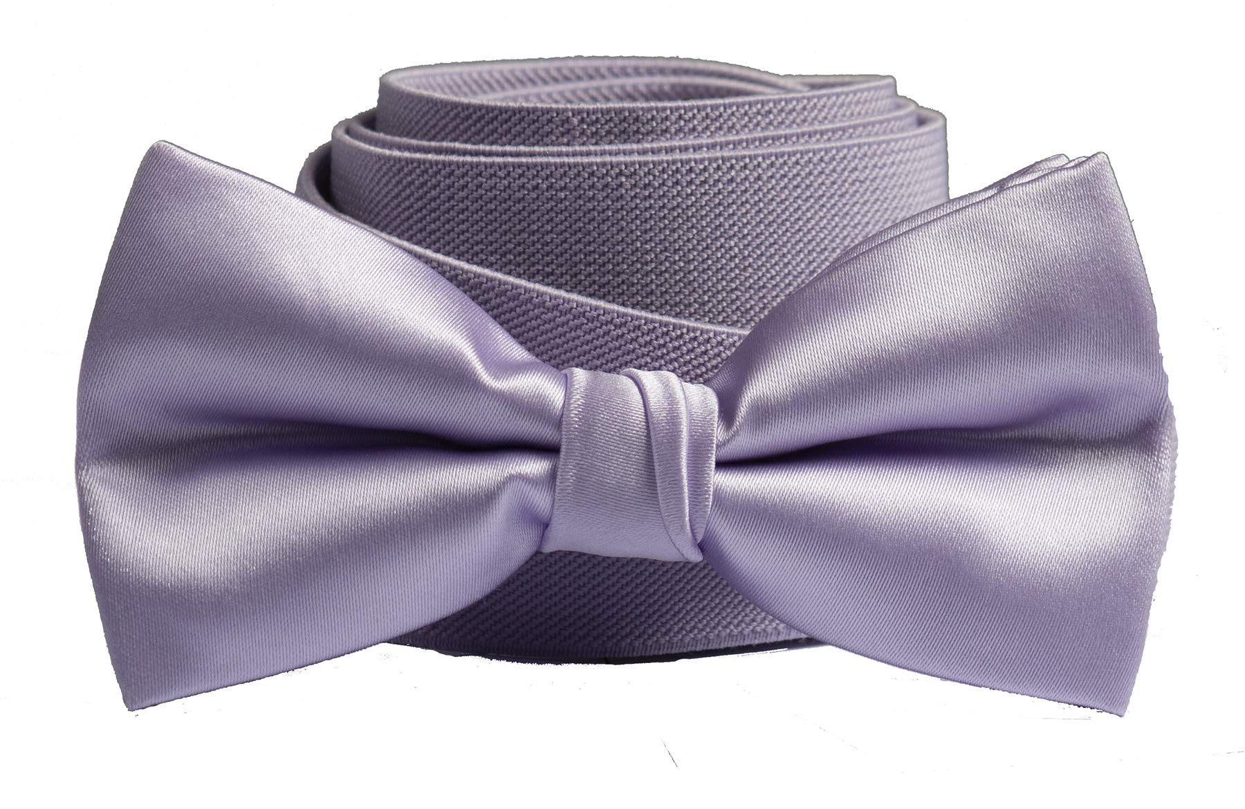 Tuxgear Boys Matching Adjustable Suspender and Bow Tie, Lavender, Youths 40'' (Lavender, Youths 40'')