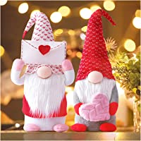 Flameer 2Pcs Wearing Chef Gnome Holiday Decoration Handmade Swedish Tomte Scandinavian Elf Home Ornaments Faceless Doll Gifts Tabletop Figurines