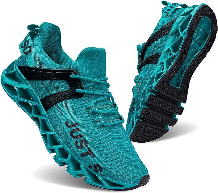 Jsleap Sneakers Herren Damen Unisex Türkis Blau