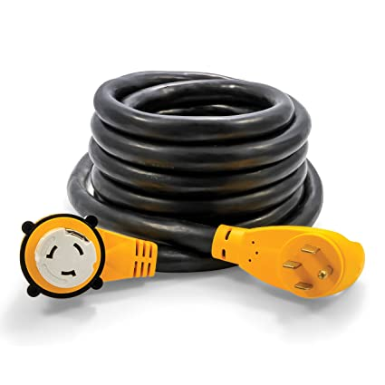 amazon com camco heavy duty outdoor extension cord for rv and autoamazon com camco heavy duty outdoor extension cord for rv and auto with easy powergrip handle 50 amp, 6 8 gauge, includes convenient carrying strap 30ft