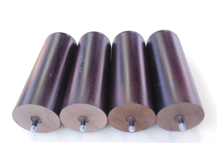 Set di 4piedi in legno wengé, lunghezza 20cm, diametro 60 mm - PDS20W lunghezza 20cm HEVEA SELECTION