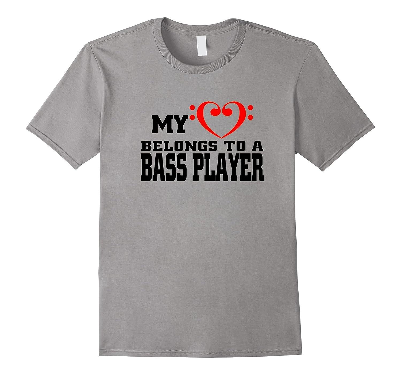 A BASS PLAYER t shirt MY HEART BELONGS TO kid-Art